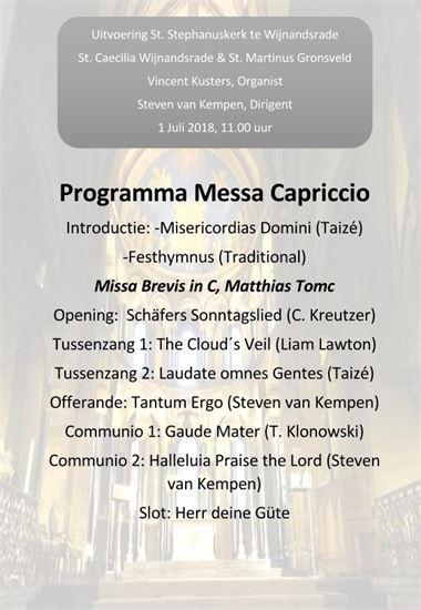 2018-07-01 Messa Capriccio