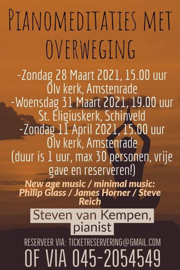Pianomeditaties concert Steven van Kempen