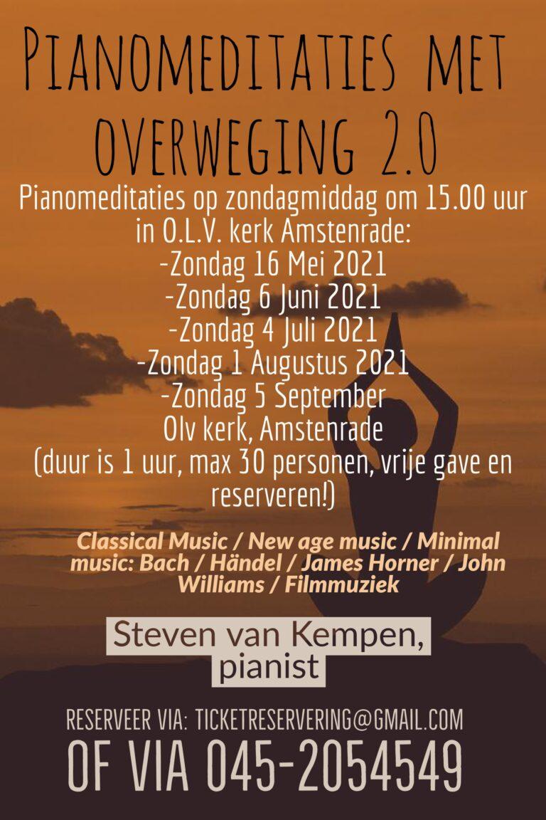 Piano meditaties met overweging 2.0