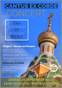 Sept 21 The Splendour of Russion Music