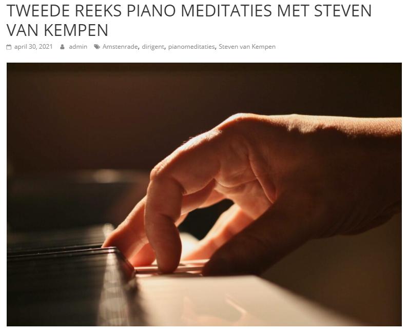 Tweede reeks piano meditaties