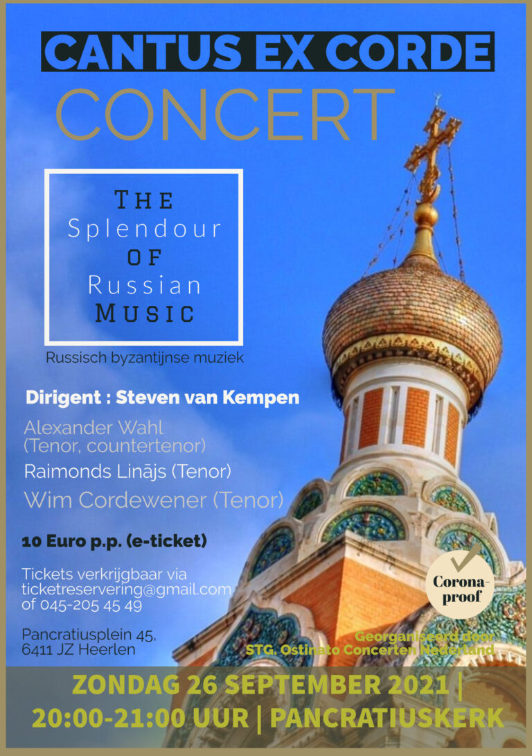 26 Sept The Splendour of Russion Music